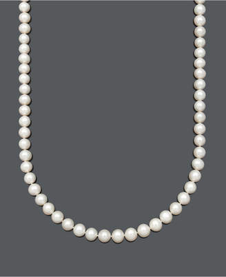 """Belle de Mer Aa+ 22"""" Cultured Freshwater Pearl Strand Necklace (8-1/2-9-1/2-10mm) in 14k Gold"""