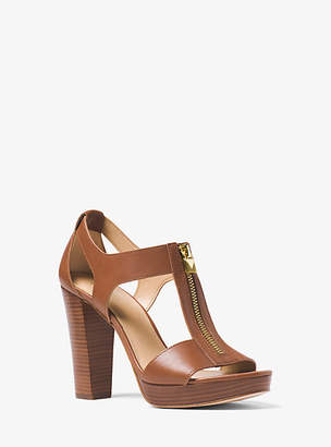 Michael Kors Berkley Leather Platform Sandal