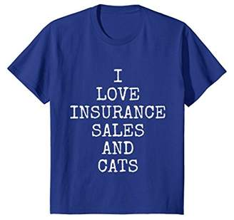 I Love Insurance Sales And Cats Tee Shirts | Cat T-Shirt
