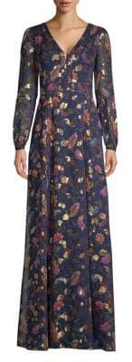 Rachel Zoe Annabel Metallic Floral Maxi Dress