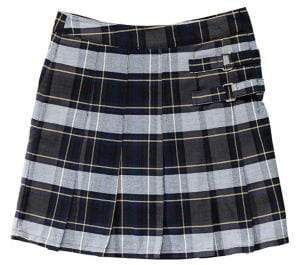 French Toast Girl's Plaid 2-Tab Scooter Skort