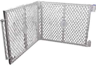 North States Pet Yard Plastic Exercise Pen Expansion Panel, 2-Piece, Gray