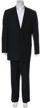 Gianni Versace Wool Tonal Striped Suit