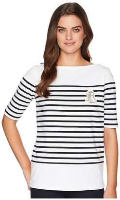 Lauren Ralph Lauren Striped Cotton T-Shirt Women's T Shirt