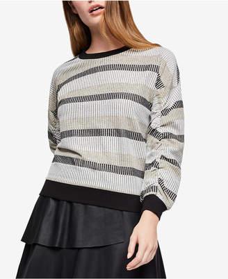 BCBGeneration Shirred-Sleeve Sweatshirt