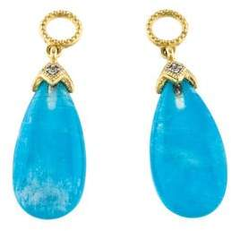 Jude Frances 18K Moonstone & Chrysocolla Triplet & Diamond Earring Enhancers