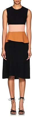 Narciso Rodriguez Women's Colorblocked Virgin Wool Peplum Dress