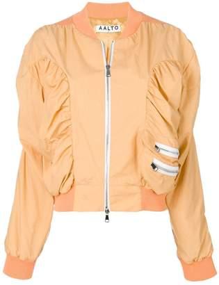 Aalto zipped bomber jacket
