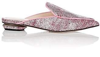 Nicholas Kirkwood Women's Beya Boucle Mules - Fluo Pink & Silver
