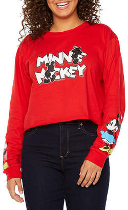 Freeze Mickey Mouse Cropped Tee - Juniors