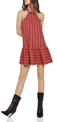 BCBGeneration Flounce-Hem Striped Dress
