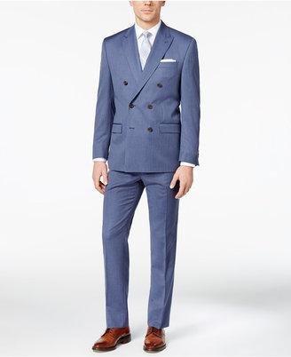 Lauren Ralph Lauren Men's Classic-Fit Blue Pinstripe Double-Breasted Ultraflex Suit $650 thestylecure.com