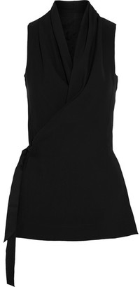 Rick Owens - Crepe Wrap Top - Black $790 thestylecure.com