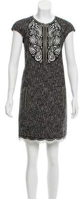 Andrew Gn Tweed Embroidered Dress Black Tweed Embroidered Dress