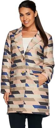 C. Wonder Novelty Jacquard Button Front Coat
