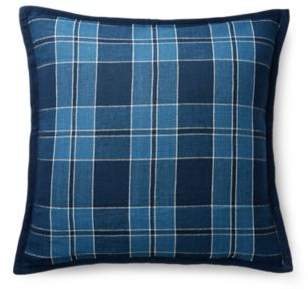 Evan Plaid Linen Throw Pillow