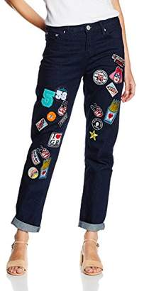 Glamorous Women's Badge Jeans,(Manufacturer Size:X-Small)