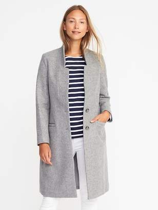 Old Navy Long Wool-Blend Coatigan for Women