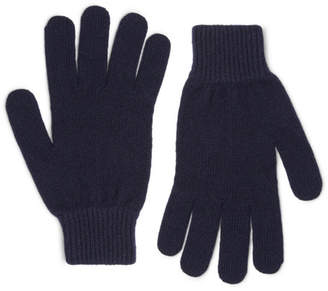 Paul Smith Ribbed Cashmere and Wool-Blend Gloves - Navy