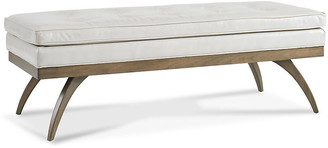 "One Kings Lane Dayton 54"" Tufted Bench - Ivory Leather"
