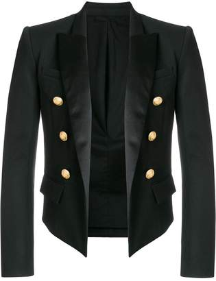 Balmain cropped double-breasted blazer