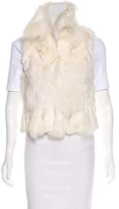 Adrienne Landau Open-Front Fur Vest