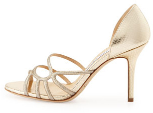 Jimmy Choo Straits Glittered Strappy d'Orsay Sandal