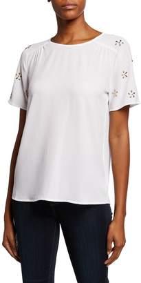 MICHAEL Michael Kors Embellished-Sleeve Top