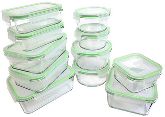 Kinetic Gogreen Glassworks 22Pc Glass Food Storage Set