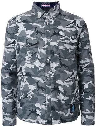 GUILD PRIME camouflage padded shirt jacket