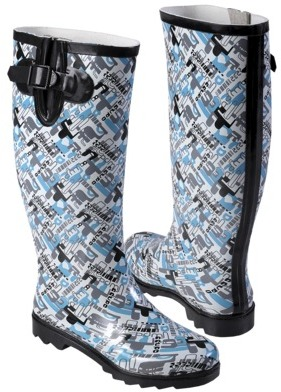 Journee Collection Womens Graphic Print Rainboots