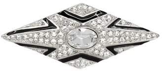 Kenneth Jay Lane Crystal Black Deco Pin
