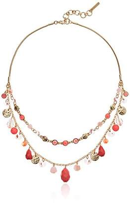 Nine West Gold-Tone and Double Row Necklace