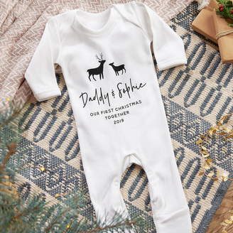 Owl & Otter Personalised Baby's First Christmas Babygrow