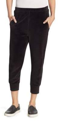 Vince Velour Cotton Cuffed Jogger Pants