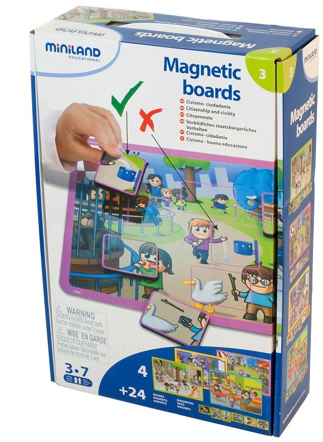 Miniland Educational Magnetic Board Game: Citizenship