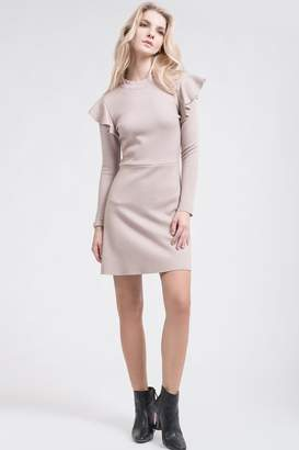 J.o.a. Ruffle Knit Dress