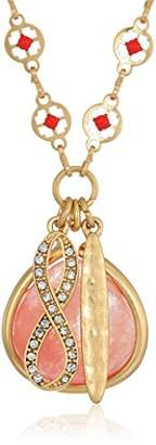 """lonna & lilly Women's Gold-Tone and 32"""" Charm Pendant Necklace"""