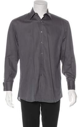 Gucci Woven French Cuff Shirt