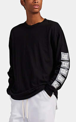 John Elliott Men's Oversized Logo-Print Cotton Long-Sleeve T-Shirt - Black