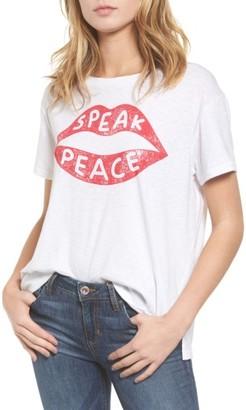 Women's Sundry Speak Peace Tee $68 thestylecure.com
