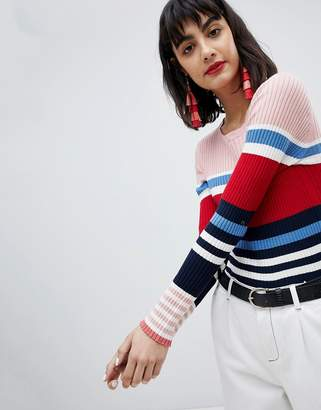 Esprit Stripe Knitted Sweater