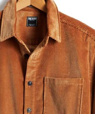Todd Snyder Corduroy Shirt Jacket in Camel