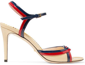 Gucci Millie Patent-leather Sandals