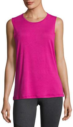 Onzie Twist Open-Back Muscle Tank Top, Pink
