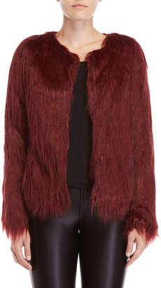 Unreal Fur Burgundy Faux Fur Jacket
