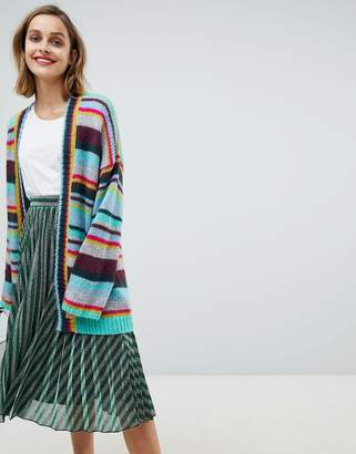 Essentiel Antwerp oversized rainbow stripe cardigan