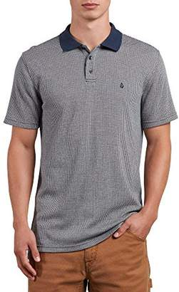 Volcom Men's Wowzer Plaid Polo Shirt