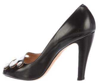 Marc Jacobs Marc Jacobs Leather Peep-Toe Pumps