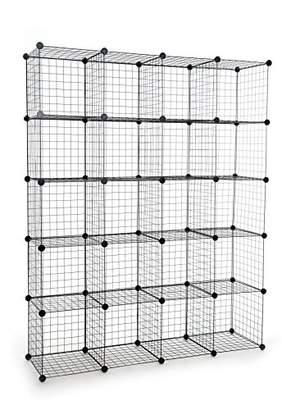 UNICOO - Multi Use DIY 20 Cube Wire Grid Organizer